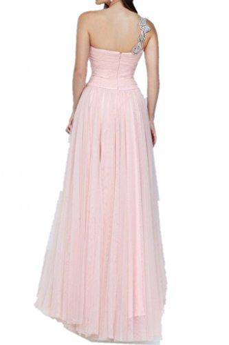 Amoureux Robe Avril Une Ligne De Balayage Tulle Partie Robe De Bal Lilas Une Épaule