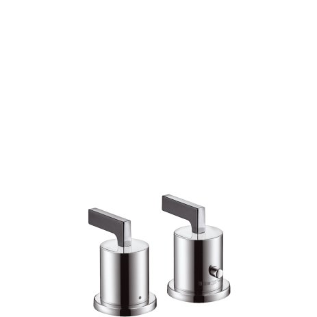 Citterio 2 Hole - Hansgrohe Citterio Colour Set For 2-Hole Thermostatic Bath Tap With Lever Handle Chrome Finish 39482000