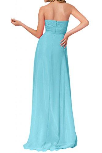 Largo Para Forma novia de fiesta Moda Mujer Hell Vestidos Vestidos Corazón Blau novia Sweetheart noche gasa Toskana qSxpFA8p
