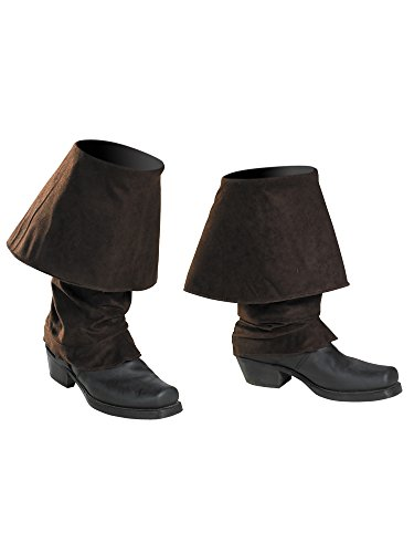 Disguise Men's Disney Of The Caribbean Pirates Adult Boot Covers Costume Accessory, Brown, One Size
