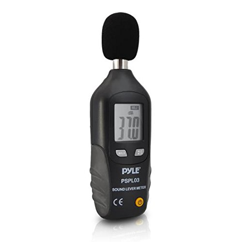 Digital Sound Pressure Level Meter - Portable Battery Operated Decibel Meter Sound Level Reader SPL Monitor Audio Tester Equipment Device w/ Type-A Frequency Weighting LCD Display Screen - Pyle PSPL03