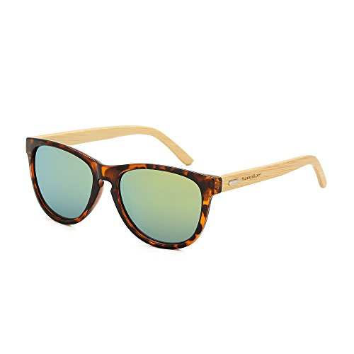 Sunny&Love Wooden Mens Womens Bamboo Vintage Sunglasses - Wholesale Wooden Sunglasses