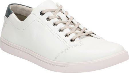 Clarks Mens Newood Street Oxford White Leather