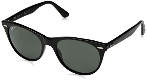 Ray-Ban RB2185 Wayfarer II Sunglasses, Black/Polarized Green, 55 mm (All Black Ray Bans Wayfarers)