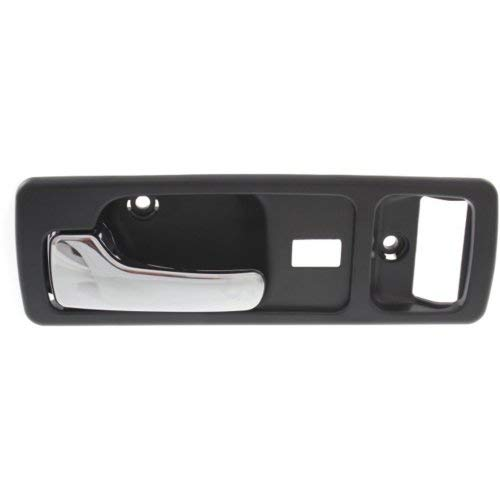 Interior Front Door Handle Compatible with HONDA ACCORD 1990-1993 LH Chrome + Black with Power Lock USA Built Coupe ()