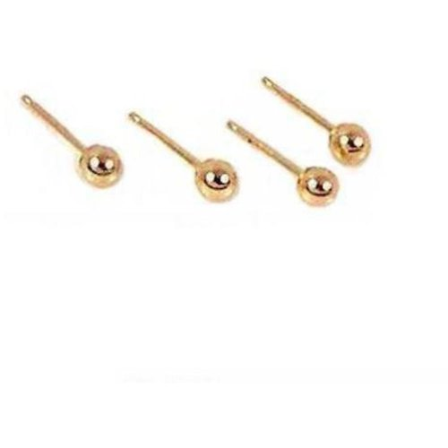 14k Yellow Figurine (4 14K Yellow Gold 3mm Ball Stud Earrings)