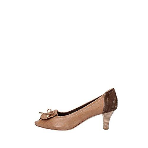 CALPIERRE Zapatos de Salón Mujer 37 EU Marrón Cuero Gamuza AG731-B