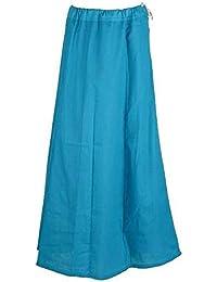 Divine India Cotton Saree Underskirt Coral Sari Petticoat Skirt Women's Underskirt Petticoat Ballywood Saree Skirt