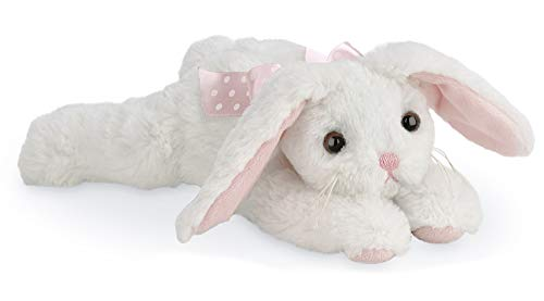 Bearington Powderpuff Floppy White Plush Stuffed Animal Bunny Rabbit, 14""