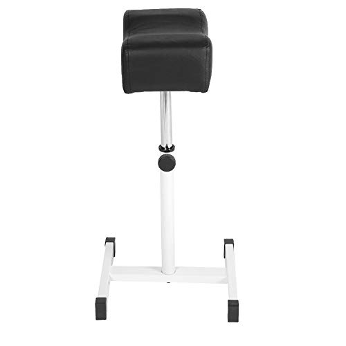 Metal Adjustable Height Pedicure Stool Chair with Footrest,Legrest Footrest Foot Care Pedicure Nail Stool Station Manicure Tattoo Foot Footrest Leg Rest Chair for Beauty Salon Spa Equipment