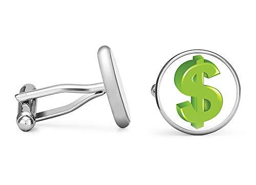 Oakmont Cufflinks Dollar Sign Cufflinks Money Cuff Links (Contoured Edition)