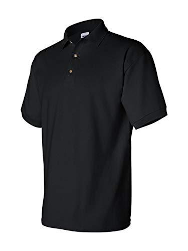 Gildan Mens Ultra Cotton Pique Polo Shirt (XXL) (Black) ()