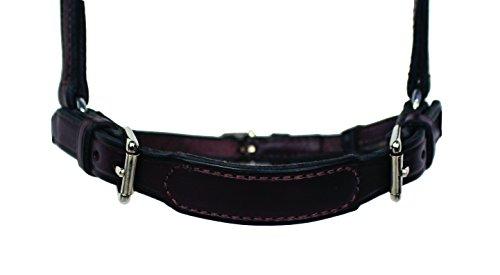 Nunn Finer Adjustable Dropped Noseband- Horse Black - Drop Halter