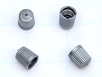 Bmw Tpms Wheel Valve Stem Cap Set Gray X4 Tire Air Fill Screw On