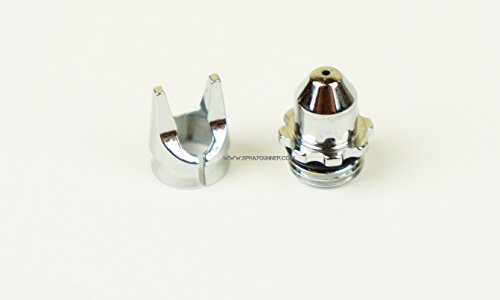 - Crown type CR Plus (Chrome) Air cap for 0.15, 0.2mm nozzle Fine Line for Evolution, Infinity. by SprayGunner