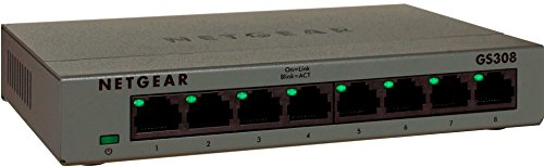 NETGEAR 8-Port Gigabit Desktop Switch in Metal Case – Essentials Edition (GS308), Best Gadgets
