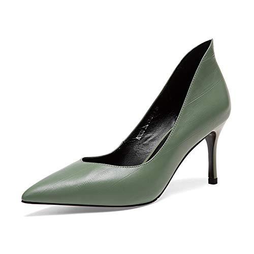 Pointue Talon à Chaussures pour Green Aiguille Femme AHt56w0n