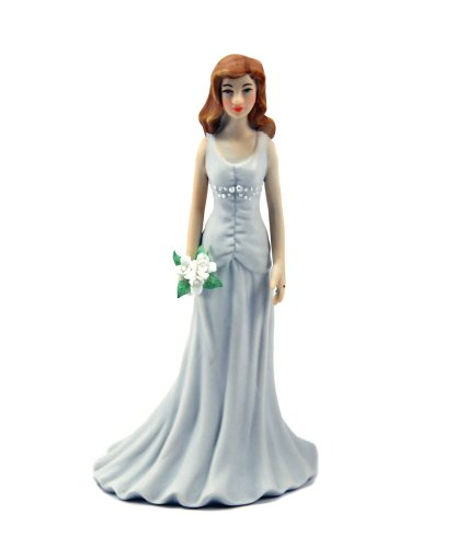 Fashionable Bride in Designer Gown Mix & Match Cake Topper