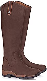 Equestrian Boots for Men Women Medieval Retro Leather Long Shaft Knight Boots Fashion Large Size Rear Zipper O