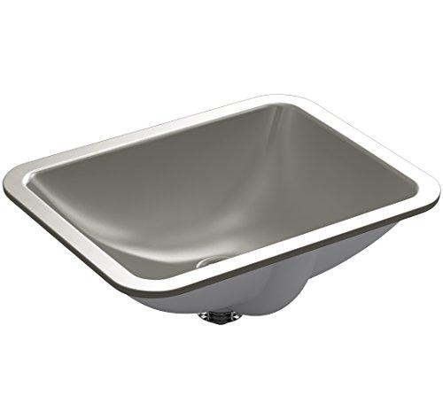 KOHLER K-20000-K4 Caxton Rectangle 20-5/16 in. x 15-3/4 in. Undermount Bathroom Sink, Cashmere,