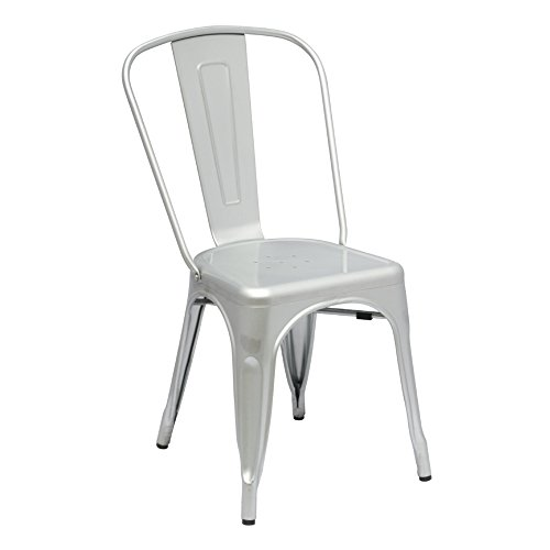 Modern Contemporary Dining Chair, Silver, Metal by America Luxury - Chairs