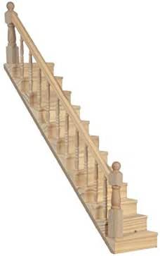 Amazon.es: Melody Jane Casa de Muñecas Escalera con Barandilla Albañiles Madera Bricolaje Miniatura: Juguetes y juegos