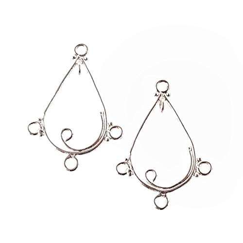 Sterling Silver 925 Chandelier Necklace Earring Findings for Jewelry Making (A)