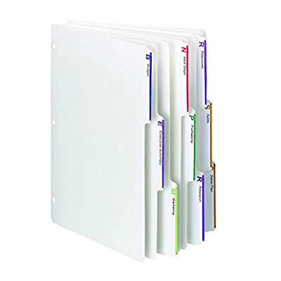 Smead Viewables Three-Ring Binder Index Dividers, 1/3-Cut Tab, Letter Size, White, (89413)
