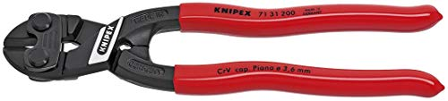 Lever Bolt Action Mini Cutter (Knipex 7131200 8-Inch Lever Action Mini-Bolt Cutter With Notch (Renewed))