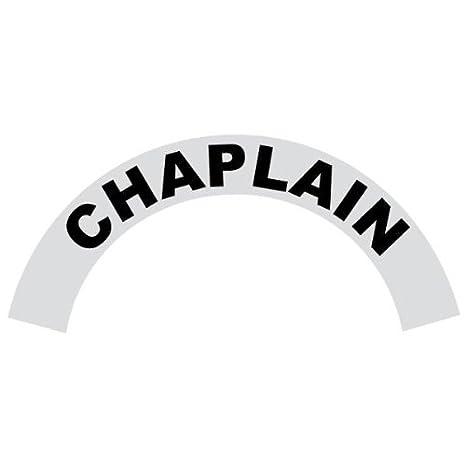 Chaplain Black Helmet Crescent Reflective Decal Sticker