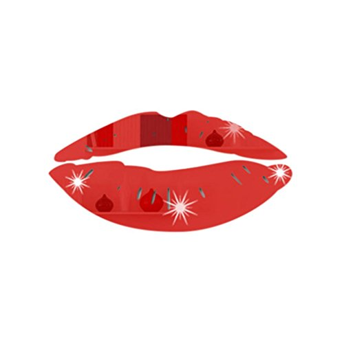 Wall Sticker, Hatop Removable Lips Mirror Wall Stickers Decal Art PVC Home Room Decoration (Red)