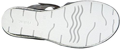 Pantoletten Rieker Rose Damen 68563 Denim Grau Grey 40 Crema Rn4pwq
