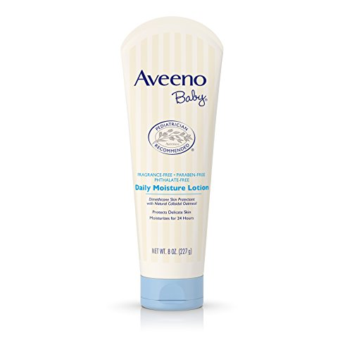 Baby Moisture - Aveeno Baby Daily Moisture Lotion with Natural Colloidal Oatmeal & Dimethicone, Fragrance-Free, 8 oz