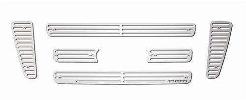Aluminum Liquid Grille - Putco 91141 Liquid Mirror Solid Aluminum Billet Grille