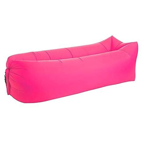 TSAR LTD Lazy Lounger Inflatable Air Bed Sofa Lay Sack Hangout Camping Beach Bean Bag