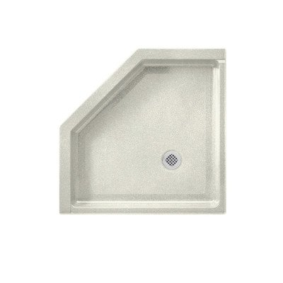 Swanstone SN00036MD.126 Solid Surface Neo-Angle Shower Base, L X 36-in H X 5.5-in H, Cloud Bone