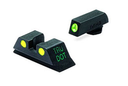 (Meprolight Glock Tru-Dot Night Sight for 10 mm & .45 ACP. fixed set with yellow rear sight and green front sight)