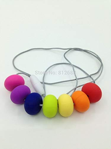 New Chewable, Nursing, Breastfeeding, Teething Necklaces Beads | Baby Wearing Chew Necklaces | Non-Toxic Free Silicone
