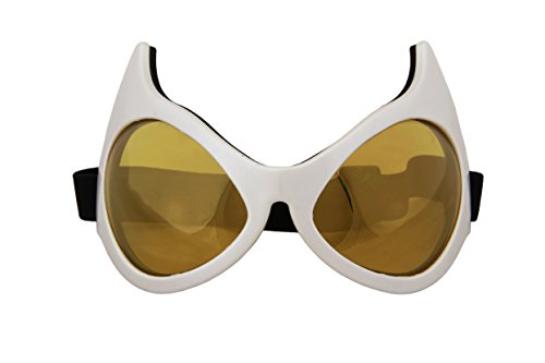 elope Cat Eye Goggles, White/Gold -