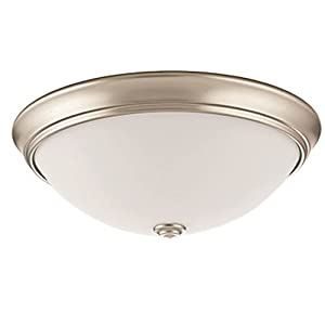 Lithonia Lighting FMDECL 14 20840 WH M4 LED Round Decor Flush Mount, 14-Inch, White