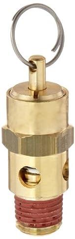 Control Devices ST Series Brass ASME Safety Valve, 125 psi Set Pressure, 1/4