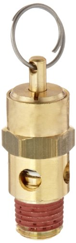 (Control Devices ST Series Brass ASME Safety Valve, 125 psi Set Pressure, 1/4
