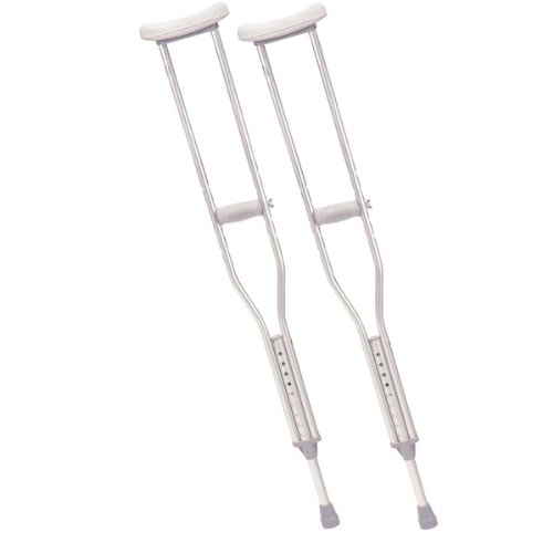 Drive Medical Walking Crutches with Underarm Pad and Handgrip Pediatric, 1 Pair by Drive Medical