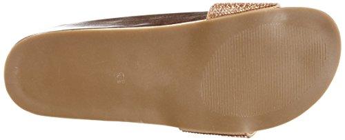 01 Fashion Gold Buffalo 314 SUEDE Rose Women's Gold London Sandals IMI 6168 P6PYq