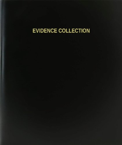 "BookFactory® Evidence Collection Log Book / Journal / Logbook - 120 Page, 8.5""x11"", Black Hardbound (XLog-120-7CS-A-L-Black(Evidence Collection Log Book))"
