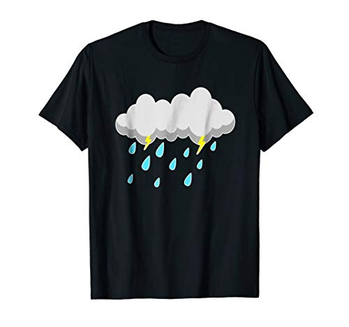 RAIN CLOUD - Halloween Easy Costume T-Shirt - Last Minute ()