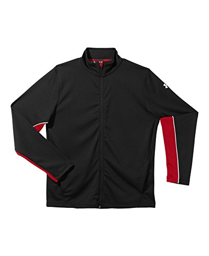 887162737605 - Under Armour Reflex Warm Up Jacket - Men's Black / Red / Red Large carousel main 0