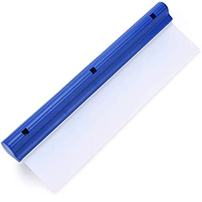 Forgrace 12 Inch Flexible Silicone T-Bar Water Blade Squeegee for Car or Home Glass Blue Handle: Automotive