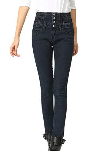 Pantalones Delgado Lápiz Flacos Acogedor Trousers Mujer Betrothales bolsillos Alta Cintura Schwarz Pants Con Para Un Pitillo Estiramiento Elástico Pecho Solo PqqwYUp1
