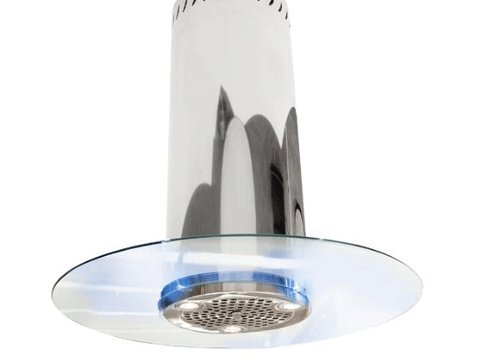 - NT AIR Island Range Hood Designer Glass Lights 36